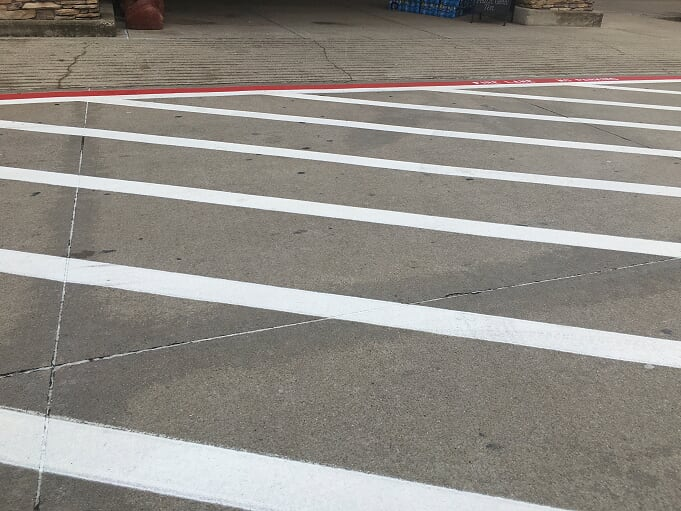 Parking lot striping and power washing Allen, Tx